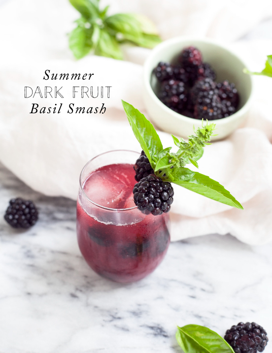 Clean Cocktails: Summer Dark Fruit Basil Smash