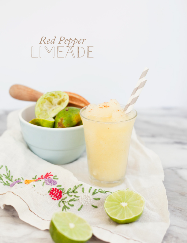red pepper limeade cocktail