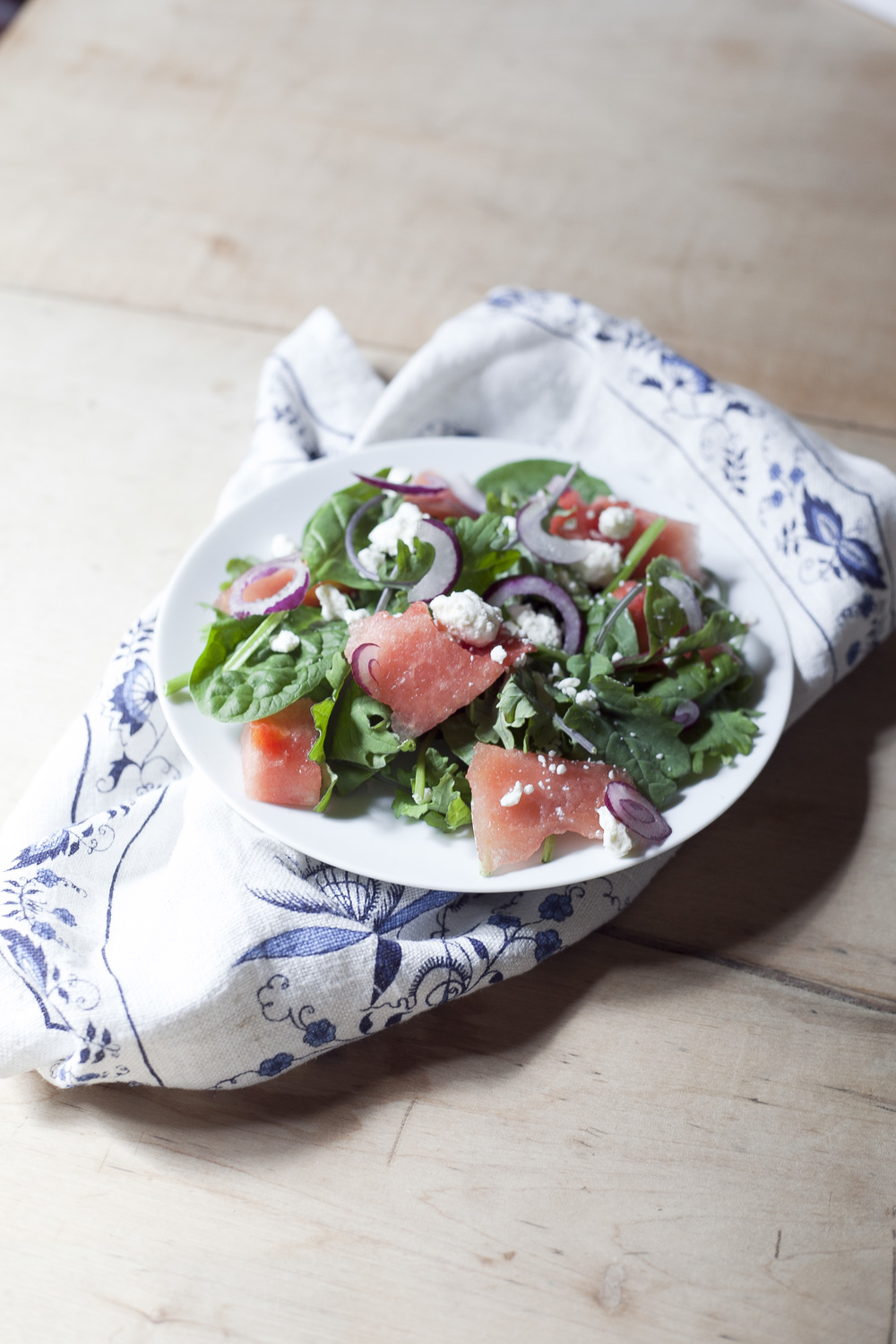Super Greens Salad with Watermelon and Feta