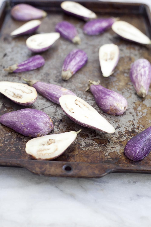 Curried Fairy Tale Eggplants