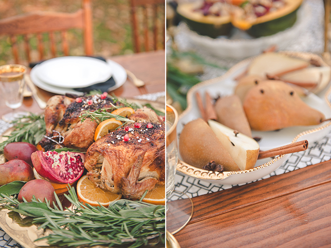Interlocked at Oatlands Wedding: thanksgiving style food