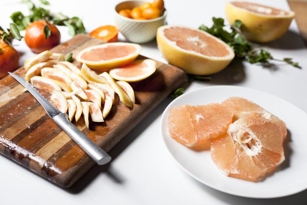 beauty booster breakfast: antioxidant rich grapefruit salad