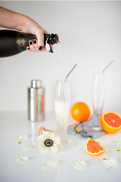 champagne cocktails, carlene thomas food styling