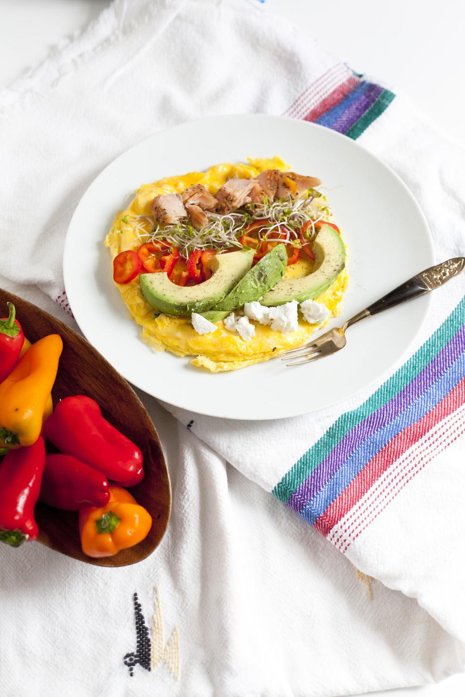 Beauty Booster Breakfast: Salmon Avocado Omelette