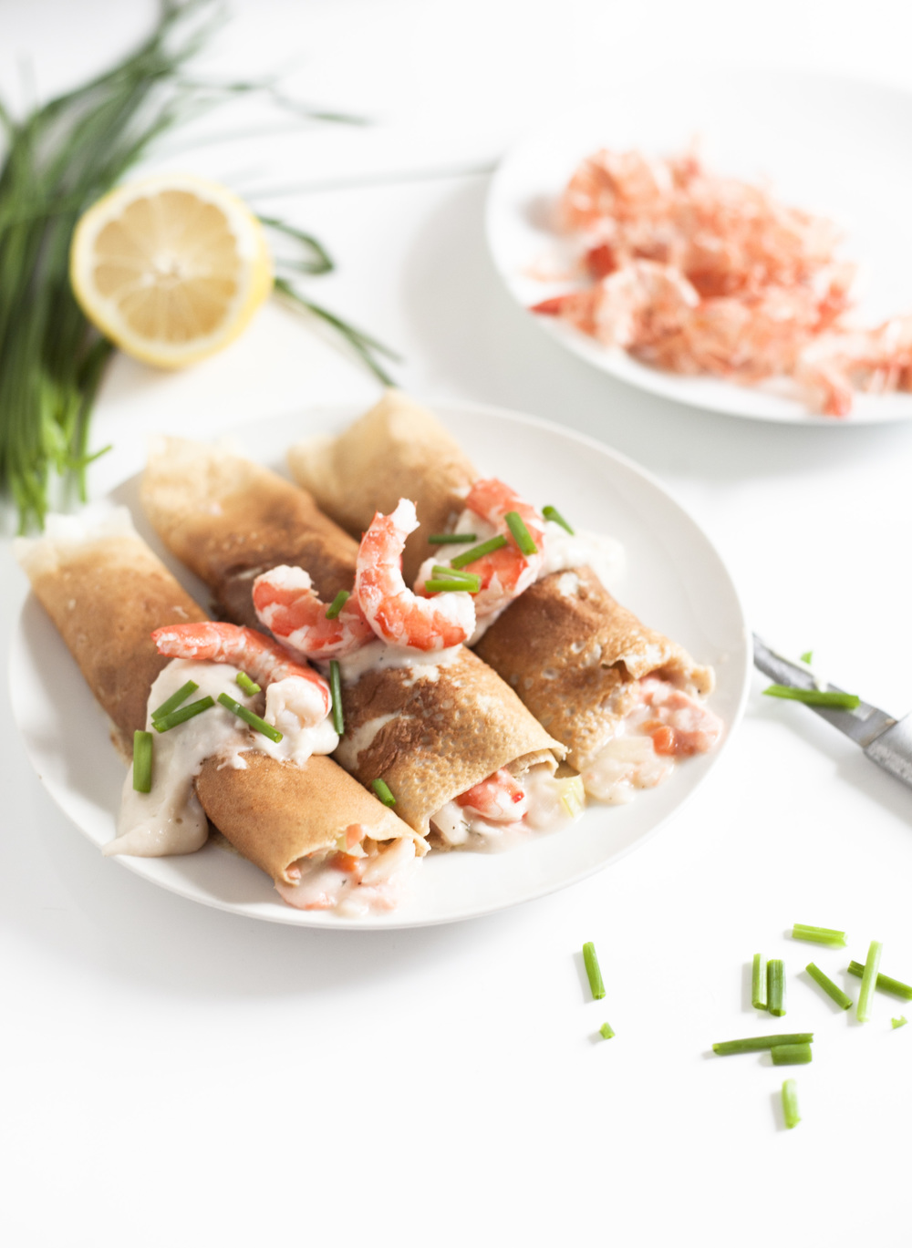 Whole Wheat Protein Packed Seafood Crepes