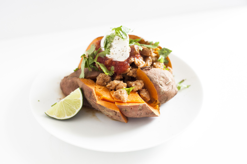 Soy Taco Stuffed Sweet Potatoes