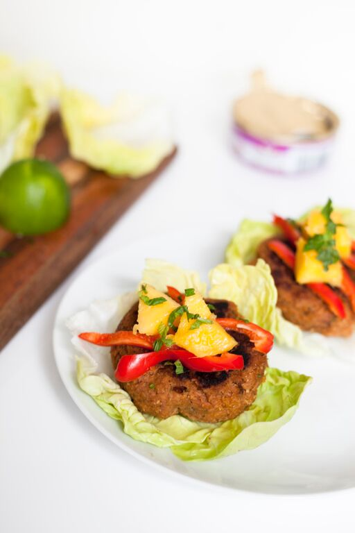 Spicy Thai Tuna Cakes in Lettuce Cups