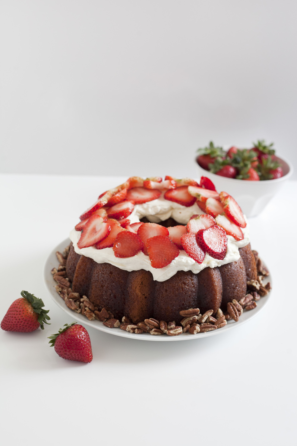 Strawberry Triple Rum Cake