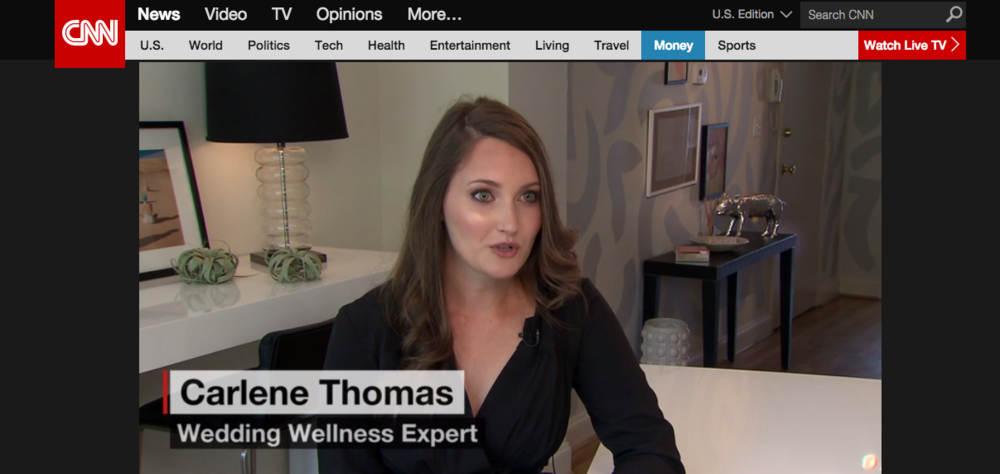 carlene thomas healthfully ever after, wedding diet
