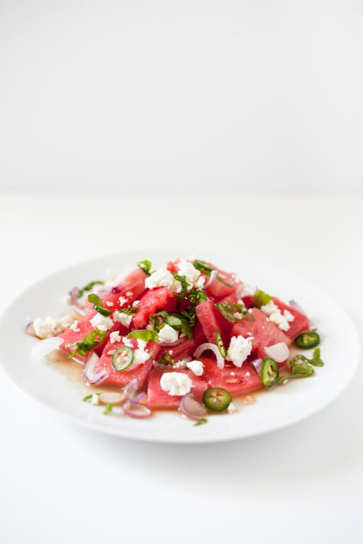 Simple and Healthy Summer Recipe Watermelon Feta Salad