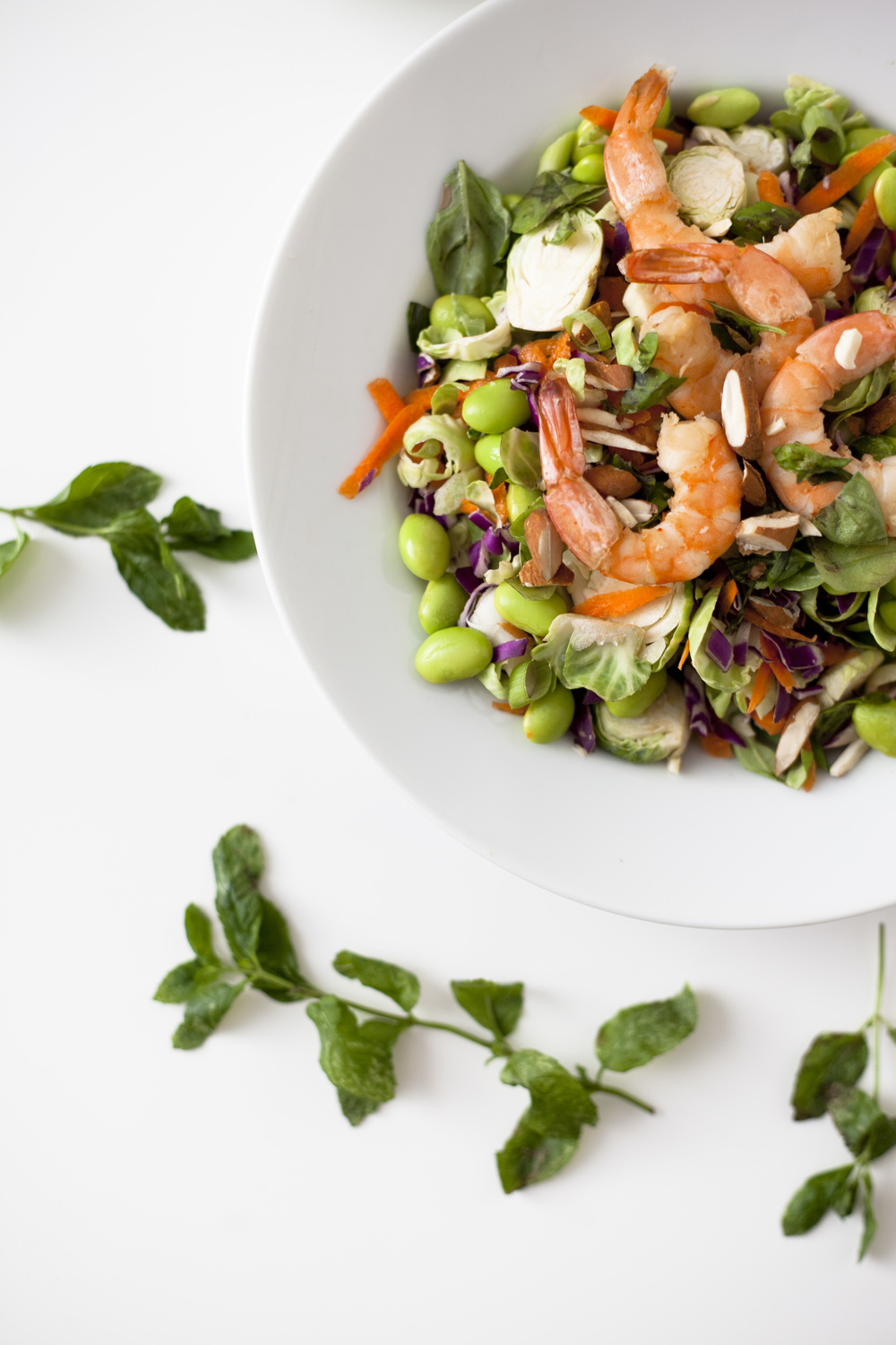 Healthy Basics Recipe: Asian Shrimp Rainbow Salad