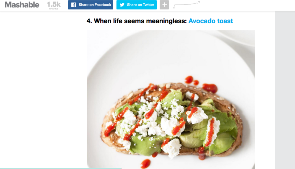 mashable avocado toast