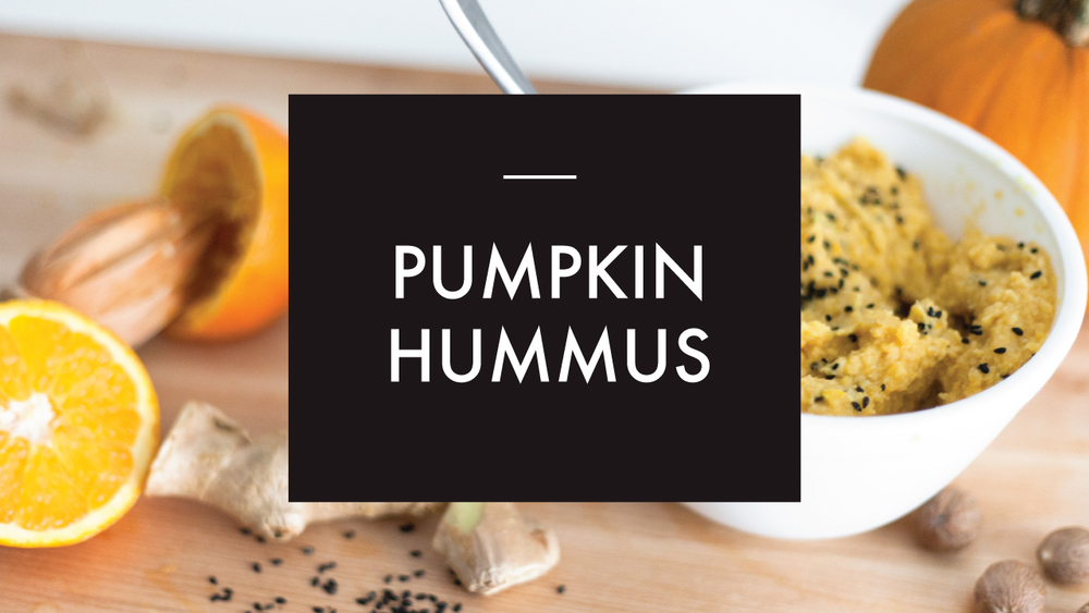 Healthy Fall Recipe: Pumpkin Hummus with Black Sesame