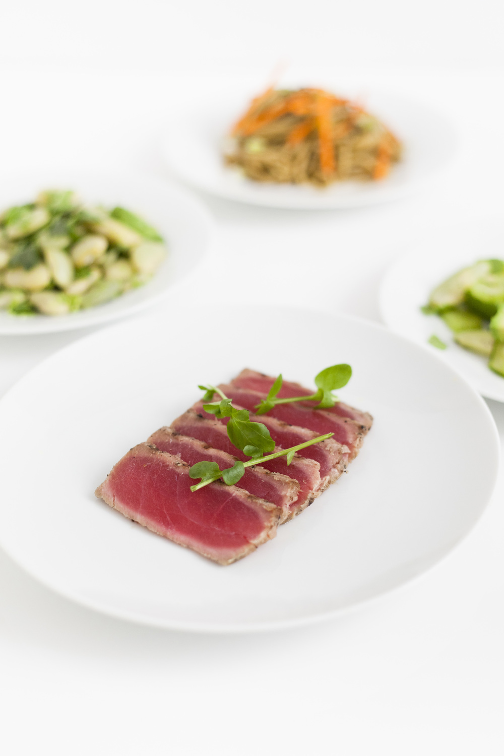ahi tuna with 3 healthy sides