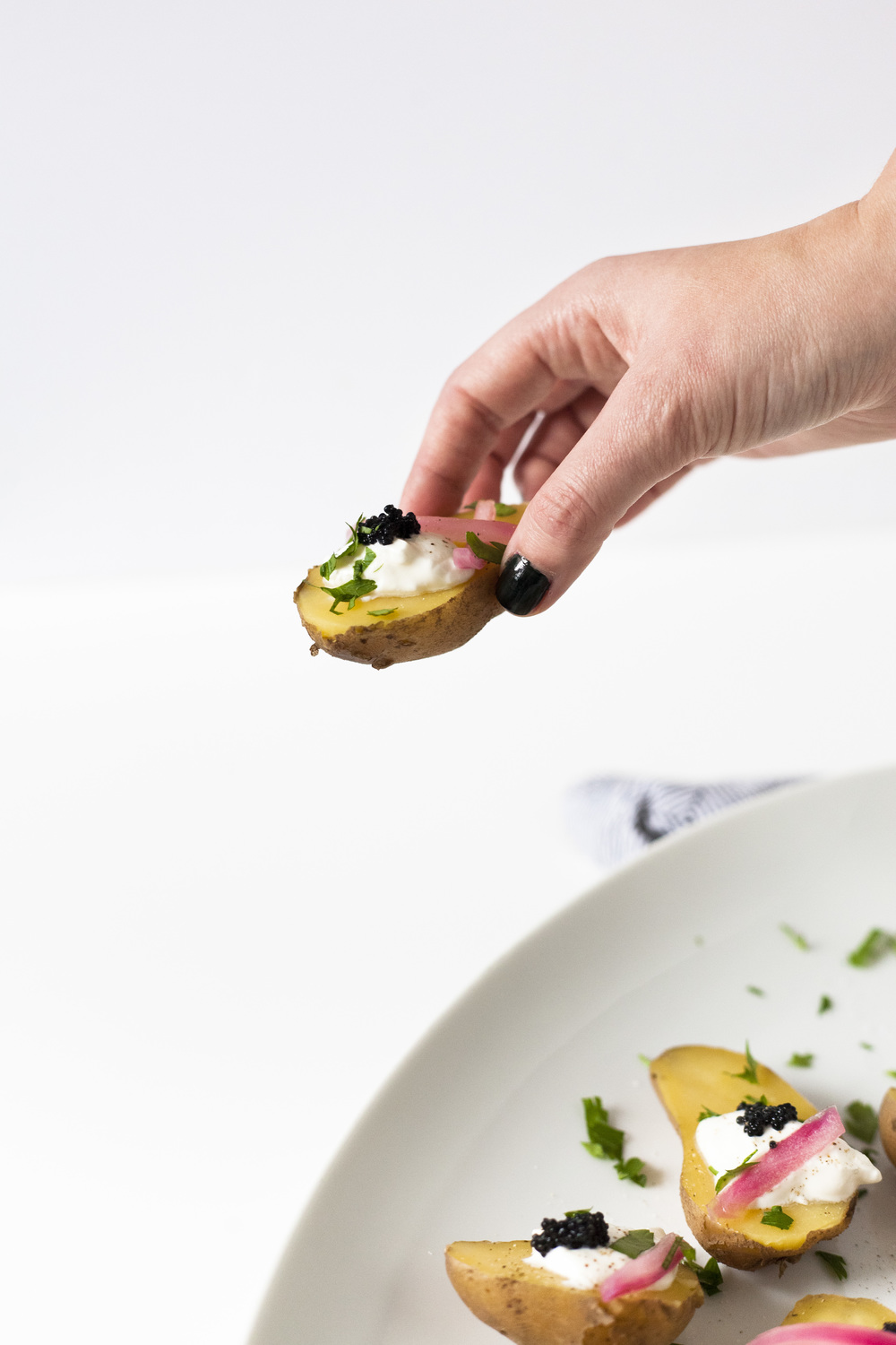 Mini Potato-Caviar Bites Recipe