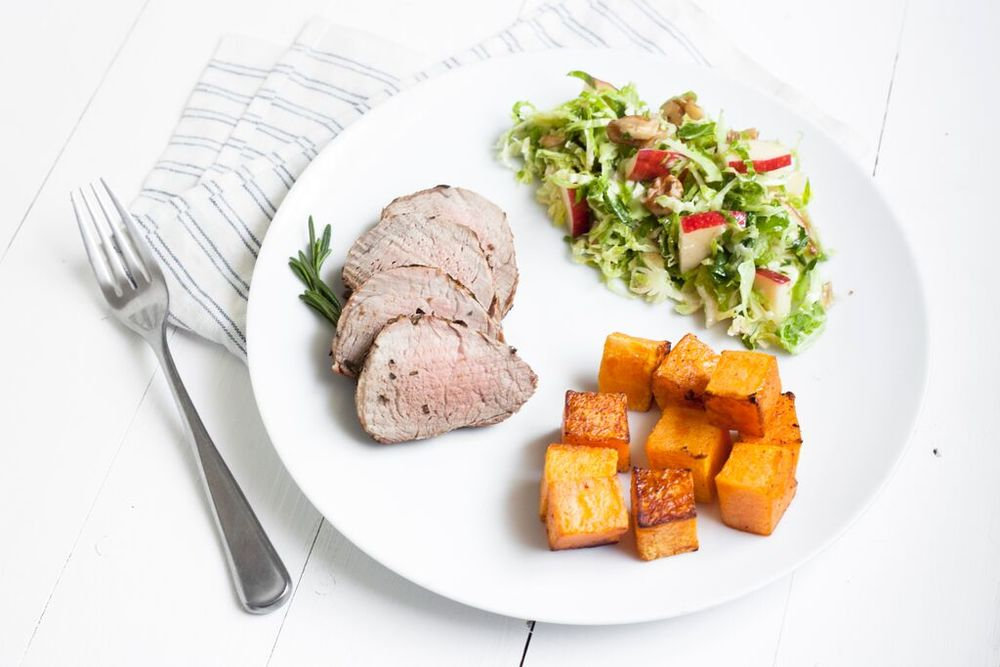 Rosemary Pork Loin and full fall meal Recipe