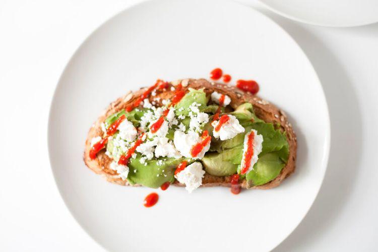 Avocado Toast with Feta and Sriracha