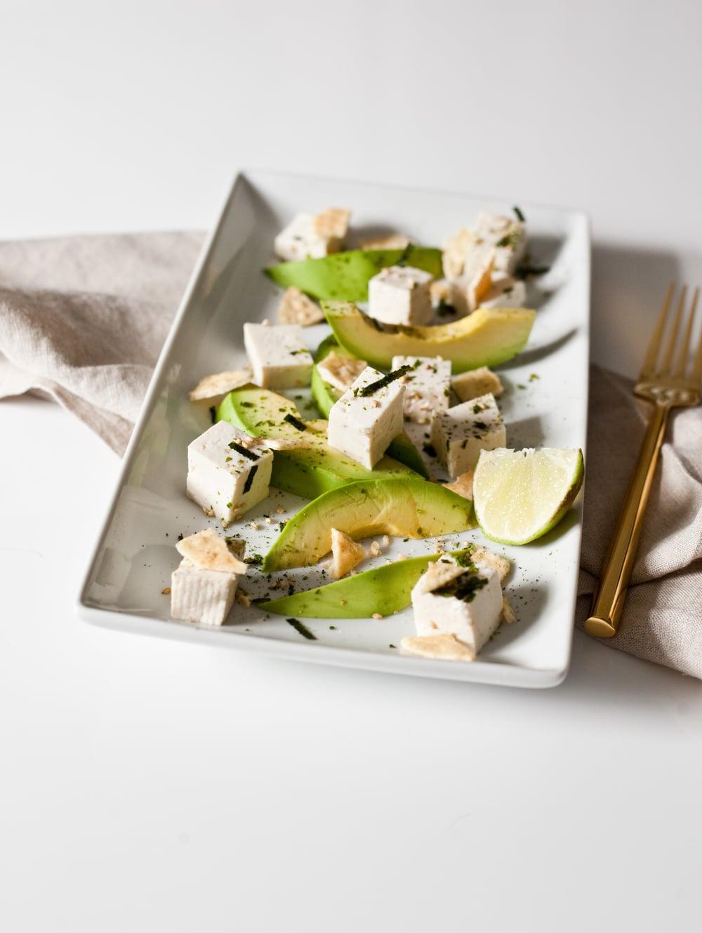 High Protein Tofu Avocado Snack
