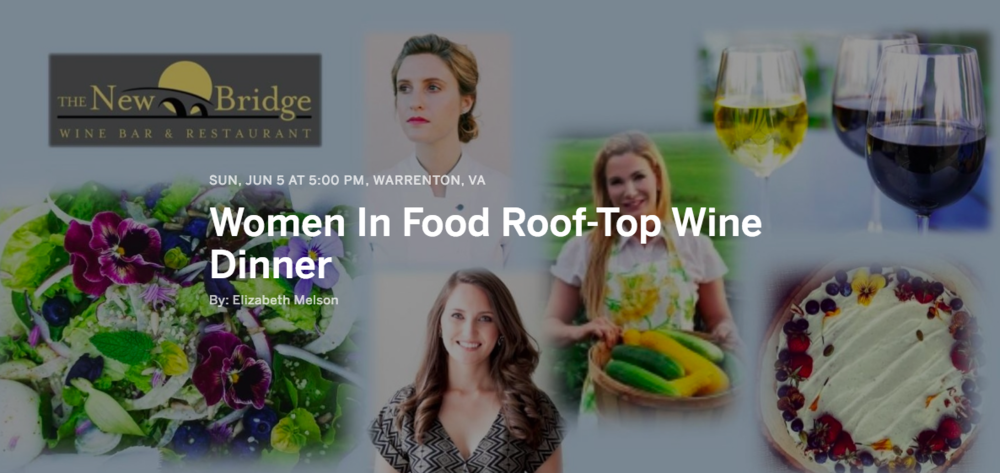 women in food dinner, virginia