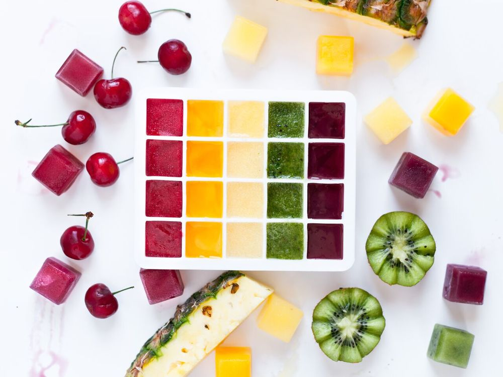 rainbow ice cubes: Food Network Feature: How to Style Your Summer Drinks