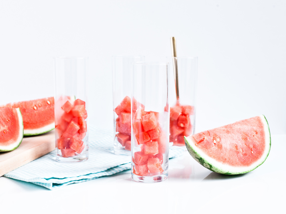Food Network Feature: Creative Ice 'Cubes' , watermelon ice