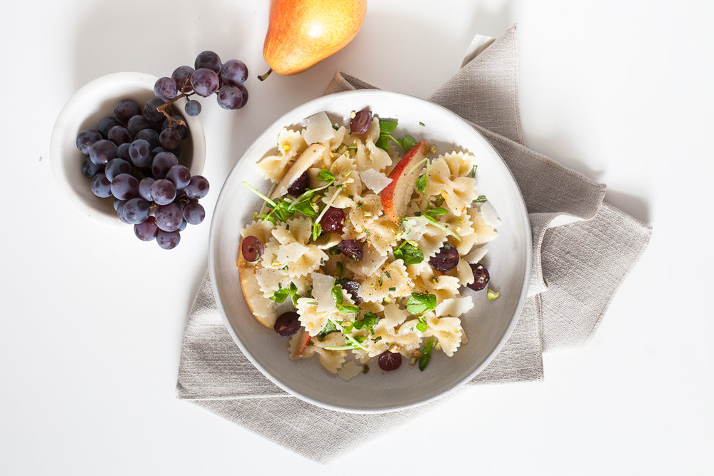 Fall Farfalle Pear and Pecorino Pasta Salad