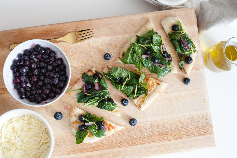 Blueberry Salad Flatbread Recipe