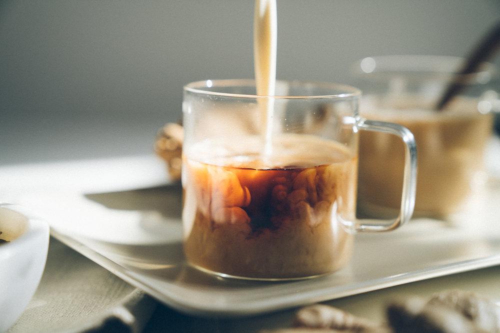Ginger Cashew Milk Tea