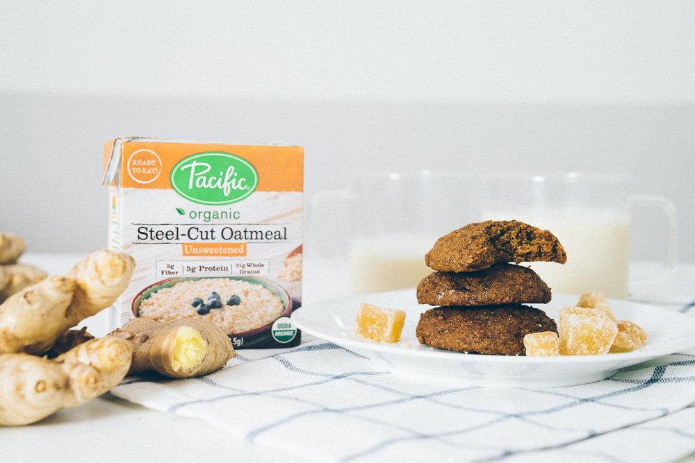 triple ginger oatmeal cookies