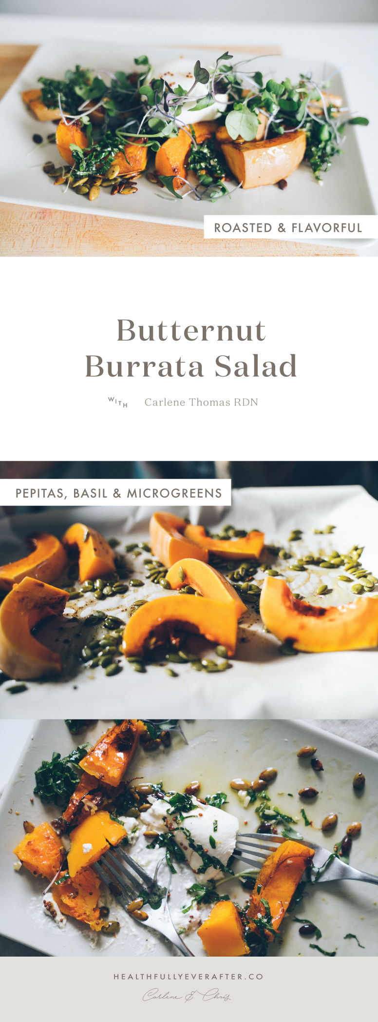 Late November 2016 Menu butternut squash burrata salad
