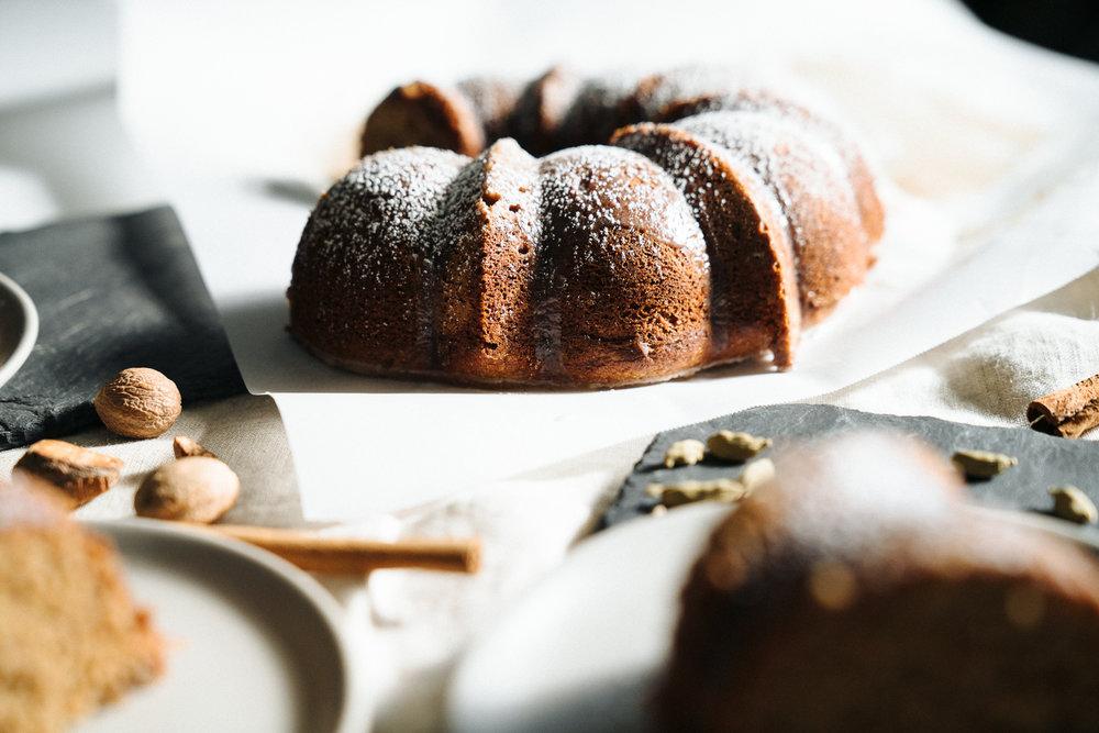 Cardamom Spice Cake with Horchata Glaze