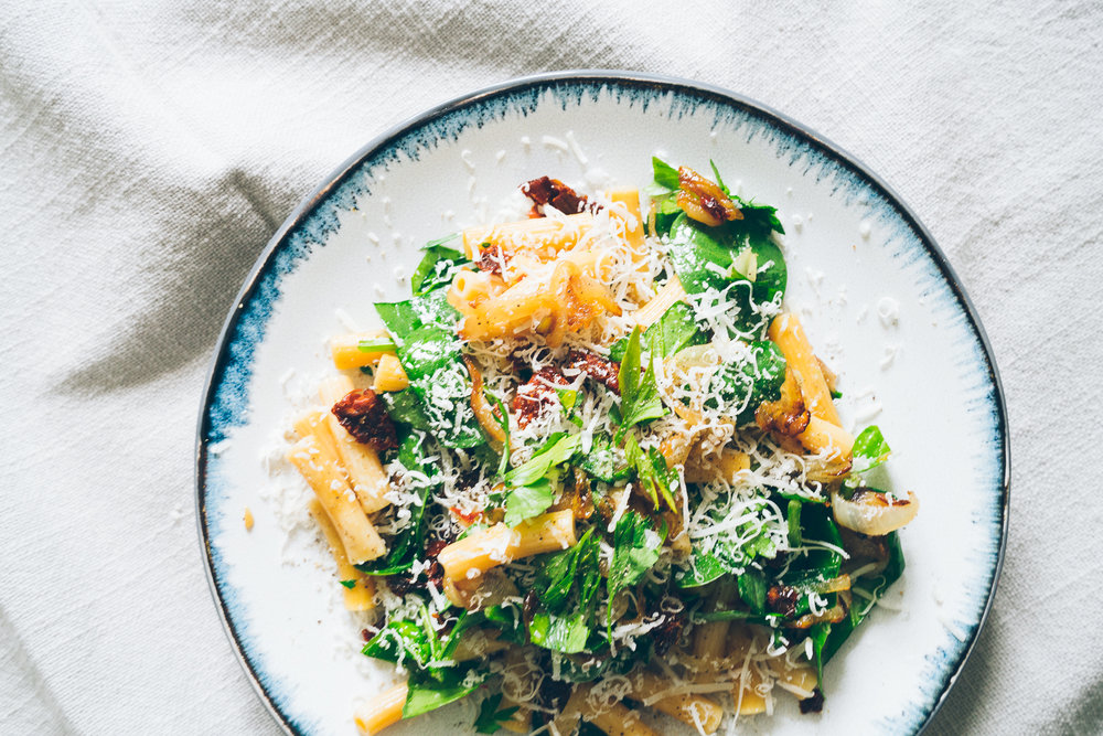 Sun-dried Tomato Winter Chickpea Pasta