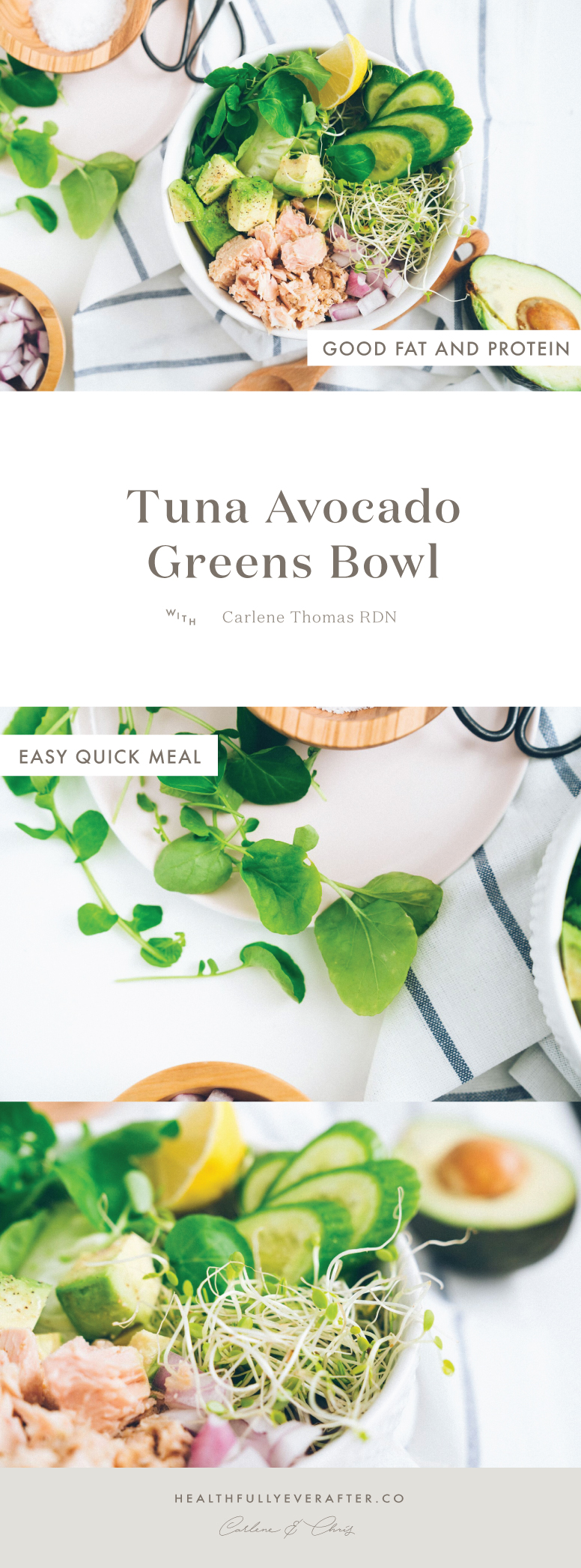tuna avocado bowl
