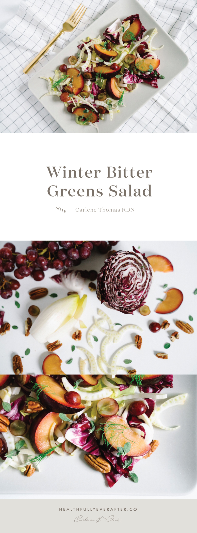 winter bitter greens salad