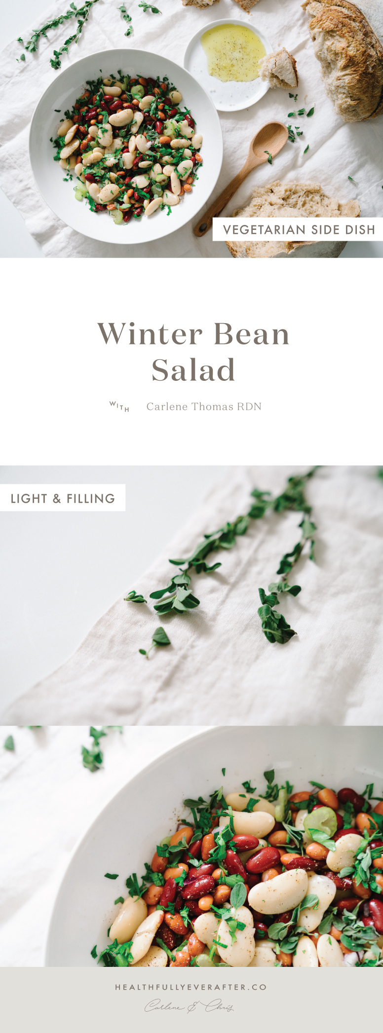 winter three bean salad