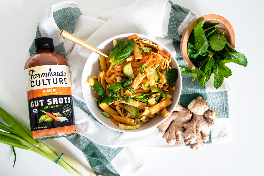 kimchi asian salad with probiotics recipe