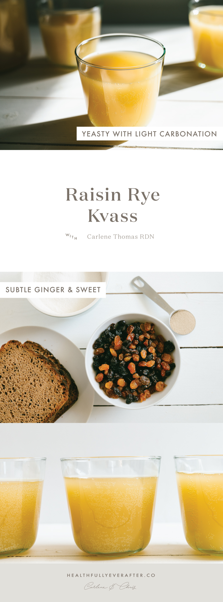 sparkling kvass raisin rye drink