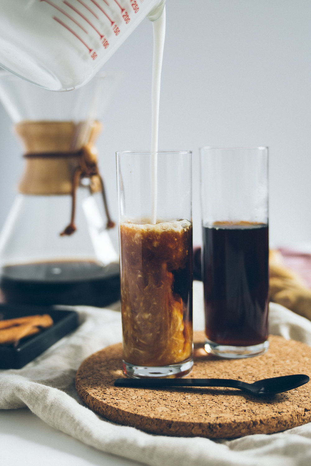 GINGER LEMON GRASS POUR OVER ICED COCONUT COFFEE