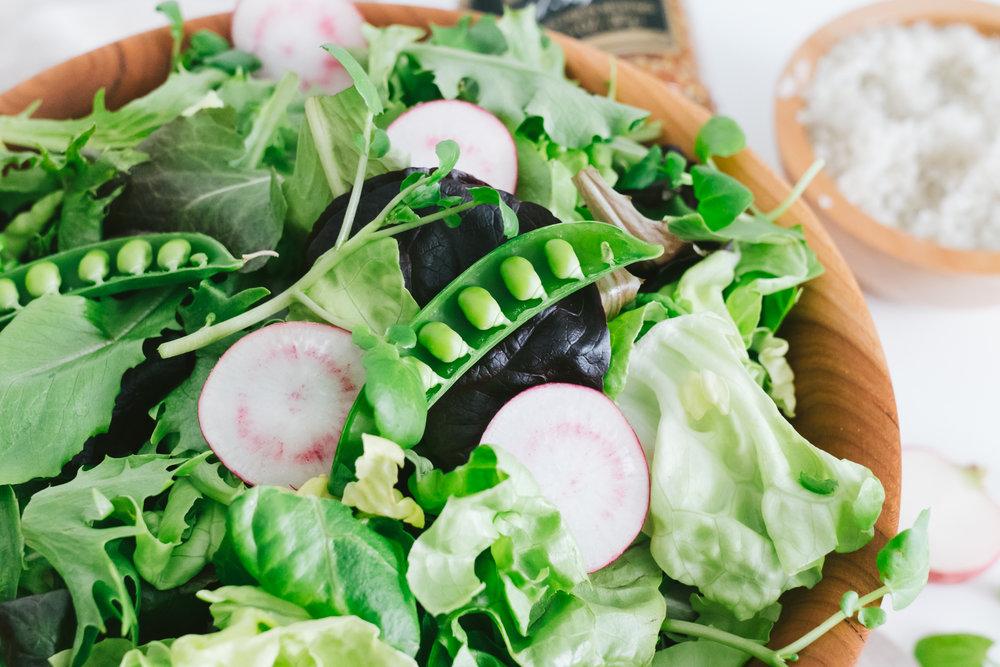 easy mustard vinaigrette spring salad