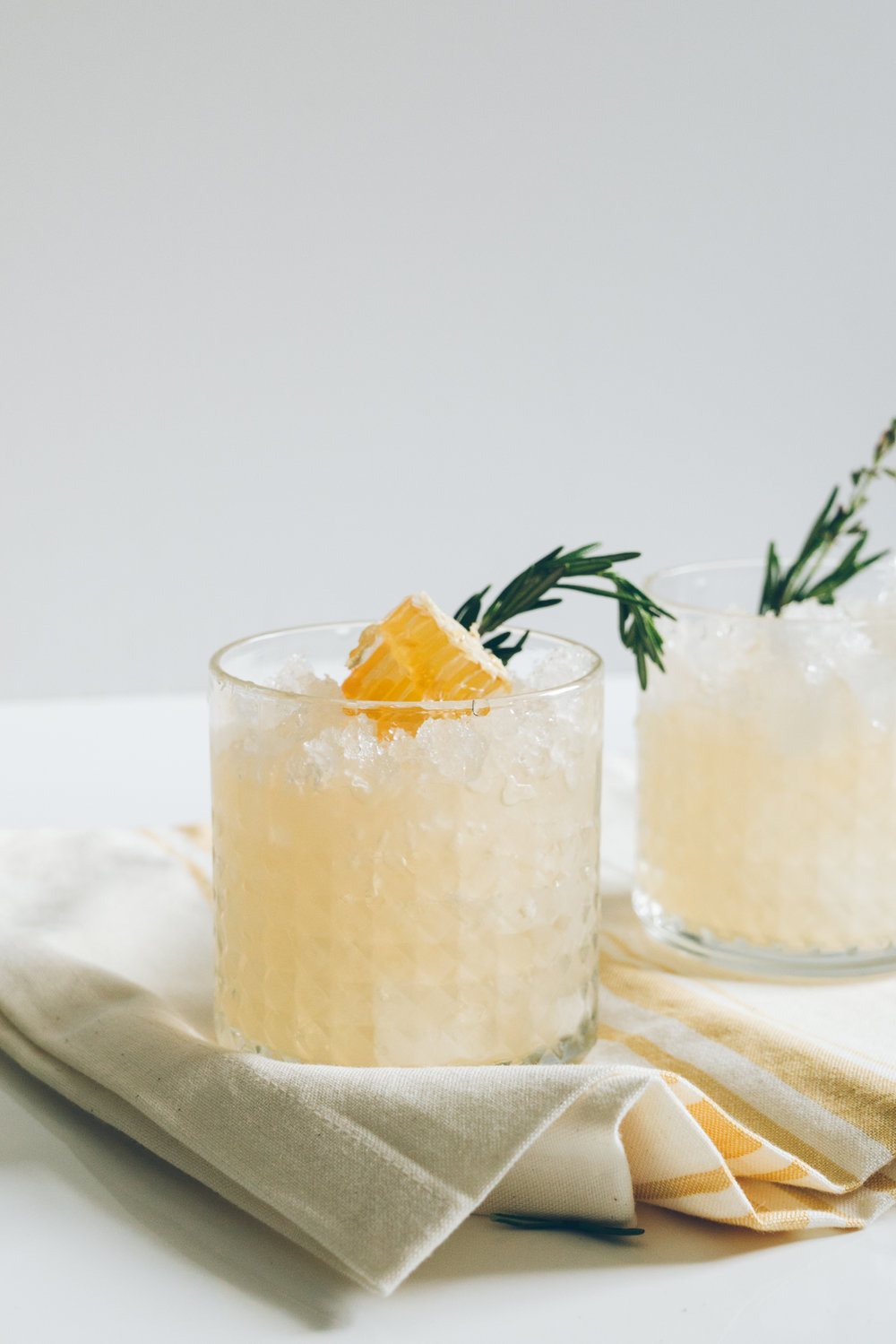 Spring Ginger Honey Switchel Drink