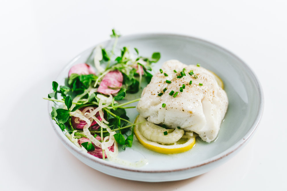 Spring Parchment Baked Lemon Fennel Cod