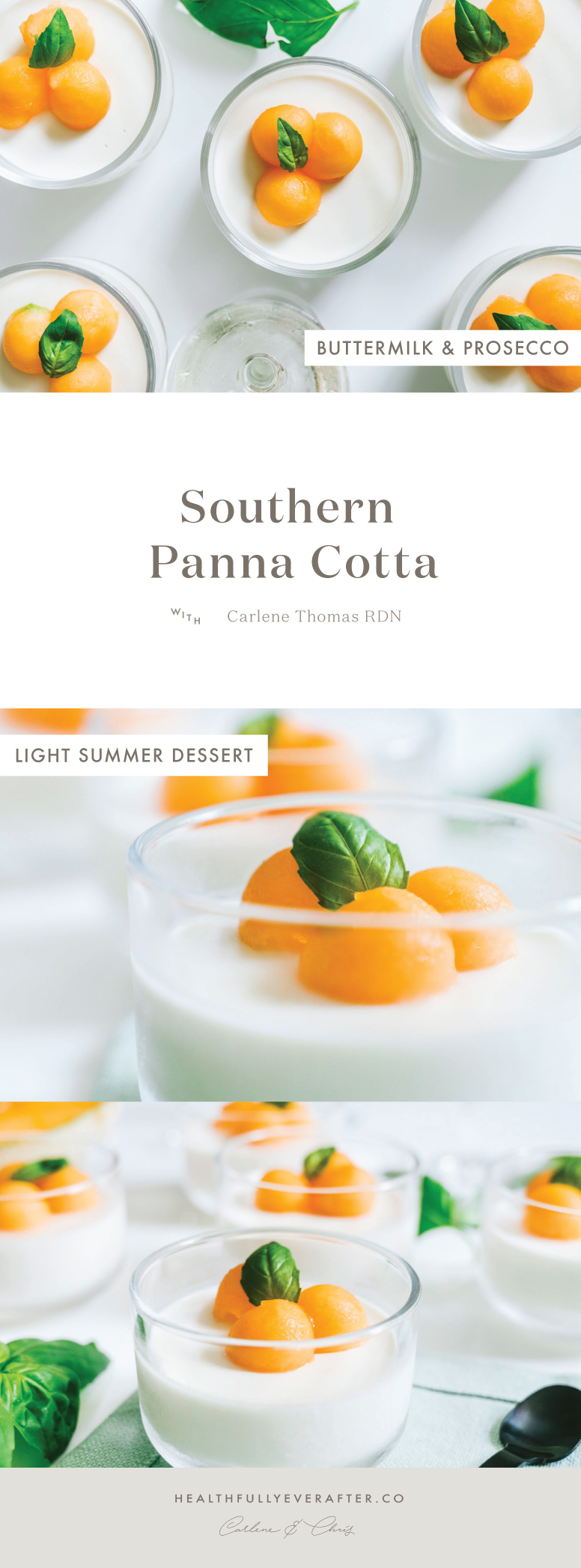 southern cantaloupe panna cotta summer dessert