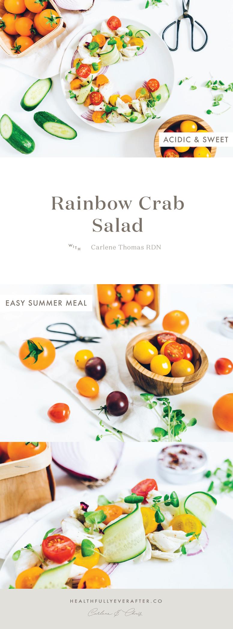 rainbow summer crab salad