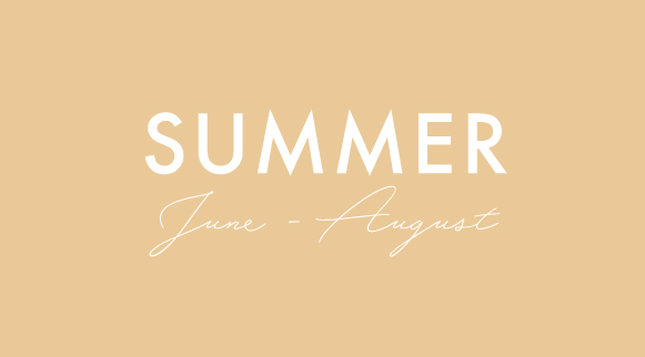 seasonal summer menus