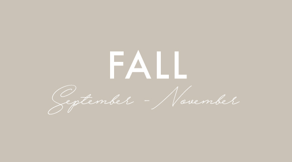 fall seasonal menus