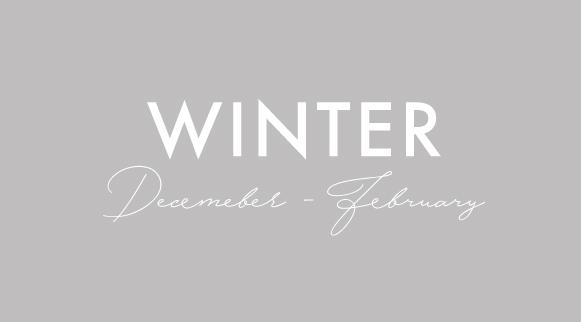 winter seasonal recipe menus