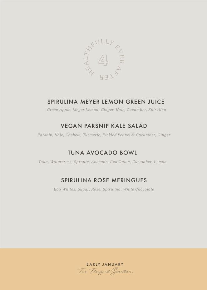 early january seasonal menu