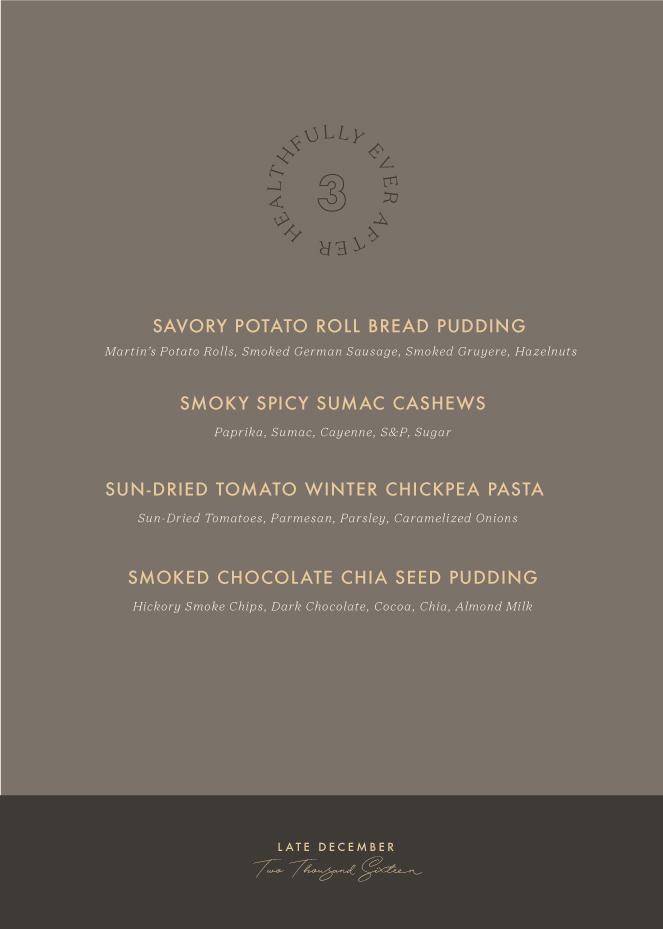 late december menu