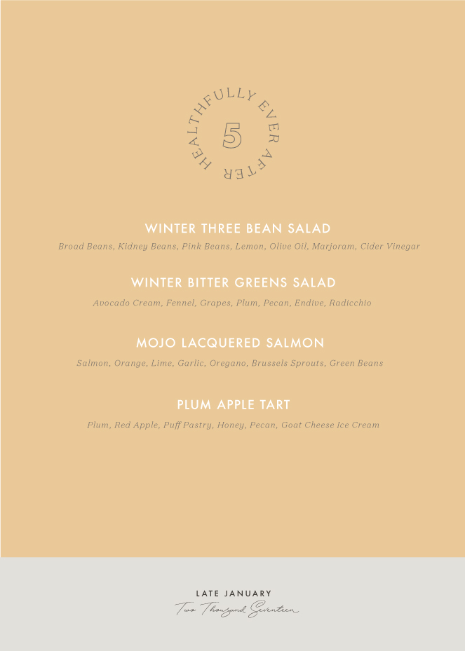 late january menu