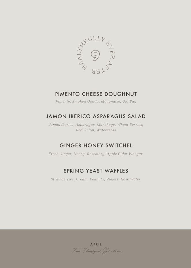 april seasonal menu